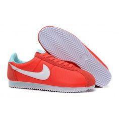 Køligt Nike Cortez V1 Lysrød Grå Blå Dame Skobutik | Fantastisk Nike Cortez V1 Skobutik | Nike Skobutik Billige | denmarksko.com