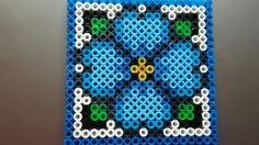 Posavasos flor azul