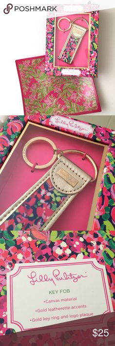 Lilly Pulitzer Keychain Details: NWT. Lilly Pulitzer key fob.   Kate Harrington Boutique does not trade or negotiate price in the comment section. However, for most items we may consider reasonable offers.   Happy Poshing! Lilly Pulitzer Accessories Key & Card Holders