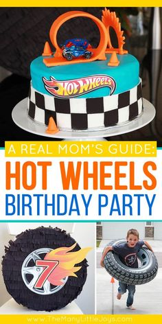 This guide will give you everything you need to know to throw an awesome–and totally doable–Hot Wheels birthday party. Simple ideas that give you maximum bang for your buck to create a party your little racer will love! Hot Wheels Party, Bolo Hot Wheels, Hot Wheels Cake, Festa Hot Wheels, Hot Wheels Birthday, Race Car Birthday, Cars Birthday Parties, Boy Birthday, Hotwheels Birthday Cake
