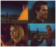 Ty: Do you feel that? Amy: Yeah. That's incredible. Ty: Wow. Amy: Ty, look. (They see a shooting star) Make a wish. Ty: I wish I could spend the rest of my life with you. (Amy looks at him. Ty gets down on one knee) Amy Fleming… (Amy gasps) Will you marry me? (Amy chuckles as Ty offers her the ring) Amy: Yes, of course I will! (They laugh joyfully and Ty puts on the ring) Amy: Yes. Yes! (Ty and Amy laugh again as she jumps into his arms) Amy: I love you! (They kiss)