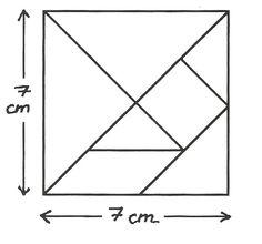 Schéma du tangram à reproduire