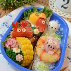 Sea bathing pig bento