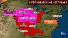 A dangerous heat wave has been sweeping the country with temperatures  reaching 100 degrees in many cities.