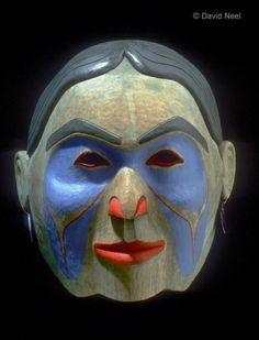Mother Earth Portrait Mask.   #nativeamerican #indian #firstnations  Source: www.davidneel.com