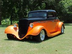 1934 Ford Coupe, via Ralph Crowley Classic Hot Rod, Classic Cars, Classic Trucks, Hot Rods, Vintage Cars, Antique Cars, Auto Retro, Roadster, Pinup