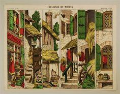 Coulisses du moulin. Imagerie d'Épinal, No 1595.