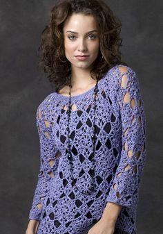 Crochetemoda: Crochet Blue Blouse
