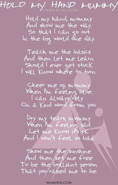 International Mothers Day - Single Mom Quotes From Daughter - Ideas of Single Mom Quotes From Daughter - Hold My Hand Daddy Poem Mommy Quotes, Daughter Quotes, Family Quotes, To My Daughter, Life Quotes, Daughters, Quotes Quotes, Qoutes, Baby Girl Quotes