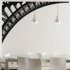 Large Wall Decals | Eiffel Tower Arch wall decals by Couture Deco
