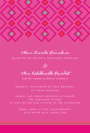 Wedding Invitations Geometric Jewels Raspberry Pink Wedding