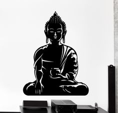 Wall Vinyl Decal Buddha Buddhism Om Meditation Home Interior Decor z4097