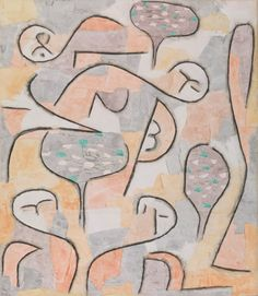 Paul Klee, Peach Harvest, 1937. Watercolor and charcoal on chalk- and glue-primed paper, mounted with linen strips on paper, sheet: 21 3/4 x 17 1/8 inches (55.2 x 43.5 cm); mount: 25 1/4 x 19 5/8 inches (64.1 x 49.9 cm)