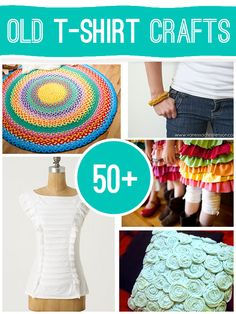 50+ projects to make using old t-shirts GREAT IDEAS TO GIVE AS GIFTS! @savedbyloves