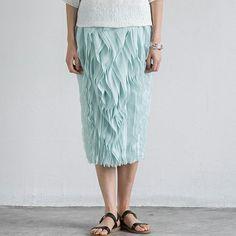 Original design linen wavy tuck pencil skirt | SKU: LininB062 #skirts #linen