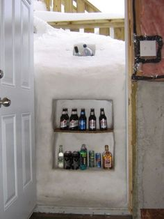 When your house gets snowed in…oh this is so funny...some guy had a bright idea, right? Love it!