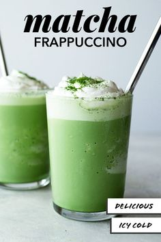 1 Mar 2020 - This super creamy and chilly Frappuccino is the perfect shade of shamrock green for St. Celebrate a little Irish luck with this tea Frappuccino. Learn to make with this eas Matcha Drink, Matcha Smoothie, Vegan Smoothies, Matcha Green Tea Frappuccino Recipe, Latte Recipe, Iced Tea Recipes, Fondue Recipes, Copycat Recipes, Drink Recipes