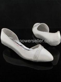 Ivory Wedding Flats with Rhinestones | cheap formal ivory rhinestones flats wedding bridal shoes with wedding ...