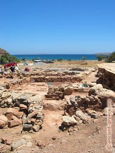 "What today we call ""Palekastro"" is a Minoan town unearthed at the Rousolakos location near the modern town of Palekastro. It is located strategically at the East shore of Crete adjacent to the sheltered harbor of Chiona, a few kilometers North of the palace of Kato Zakros."