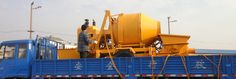 With the concrete mixer pump two machines combined into a machine to move easily,strong、flexible maneuverability