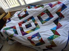 It would be cool to do this quilt with a Quick points ruler!!!