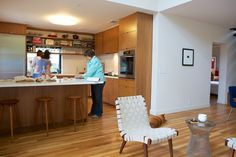 apt therapy - wood cabinets, wood foor