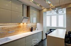 Кухня в эко-футуристичном стиле.