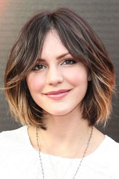 Add fullness to your face by asking your stylist to pop some lighter hues starting around the cheeks.
