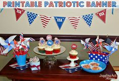 Patriotic Banner {Free Printable} - Juggling Act Mama