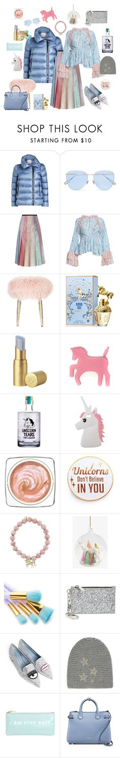 """Haunted office- busy unicorn"" by juliabachmann ❤ liked on Polyvore featuring Moncler, Sunday Somewhere, Gucci, Romance Was Born, Anna Sui, Too Faced Cosmetics, WithChic, Miss Selfridge, Sydney Evan and Tory Burch"