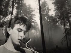 Robert Smith in a forest