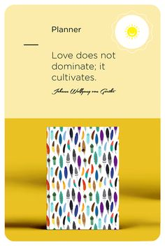 """Love does not dominate; it cultivates."" Johann Wolfgang von Goethe. In this Daily Planner 2021, you'll be guided in coming up with a plan to succeed in life and becoming a happier person. You will be encouraged to implement these strategies in your everyday life. #paperpartysupplies #paper #calendarsplanners #weeklyundated #undateddaily #happyplanner #planner #journal #planning #goalplanner #goaldiggersociety #2020goals #journalling #selfdevelopment #notebook Planner Journal, Planner Book, Happy Planner, Weekly Agenda, Weekly Planner, Sticker Organization, Goal Planning, Back To School Gifts, Daily Meditation"