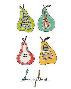 Kellie Bloxsom-Rys #pear #illustration