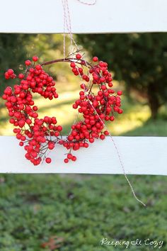Berry wreath. Repinned by www.mygrowingtraditions.com