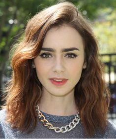 Lily Collins - Length, Side-part