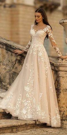 Wedding Dress Gallery, Cute Wedding Dress, Long Wedding Dresses, Wedding Bride, Wedding Rings, Wedding Cakes, Weeding Dresses, Disney Inspired Wedding Dresses, Lace Wedding Dress With Sleeves