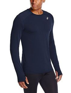Shorts 59375: Asics Mens Performance Running Lyte Long Sleeve Top Dark Cobalt Size Large BUY IT NOW ONLY: $45.0