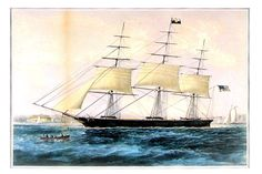 Clipper Ship  Nightingale  Small Currier and by mysunshinevintage