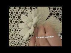 Sıkiğne dantelanglez çiçek montajı - YouTube