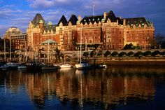 Fairmont Empress Hotel in Victoria, British Columbia.  One of the most beautiful cities in the world.