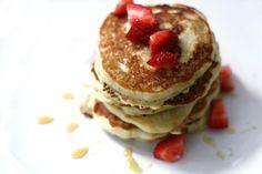 vanilla bean: strawberry vanilla bean pancakes