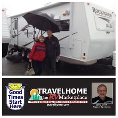 Congratulations to Larry & Dorothy on the purchase of their Rockwood 2608SS #traveltrailer  from Larry!  #Travel #Travelhome #rockwoodrv #vacation #camping #RVing