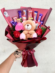 Order or enquiry's please Whatsapp us No : We provide delivery for Penang Kedah Kl Selangor (Selected Area) Candy Bouquet Diy, Gift Bouquet, Creative Birthday Gifts, Cute Birthday Gift, Mother's Day Gift Baskets, Themed Gift Baskets, Gardening Gifts For Mom, Flower Bouqet, Chocolate Flowers Bouquet