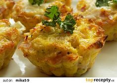 Chleba ve vajíčku jinak recept - TopRecepty.cz Baked Potato, Quiche, Mashed Potatoes, Cauliflower, Food And Drink, Tasty, Treats, Vegetables, Cooking