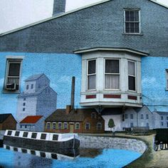 Mural of the Erie Canal in #Chillicothe #Ohio.