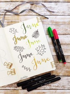 Fake or Faux calligraphy tutorial in your bullet journal or planner What a fantastic idea!