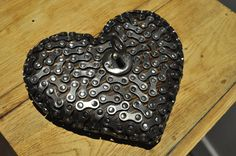 Heart/Srcco - object made of wood and bike elements Made Of Wood, Decorative Objects, Bike, Heart, Jewelry, Bicycle Kick, Jewellery Making, Bicycle, Jewerly