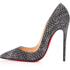 Christian Louboutin So Kate ($1,295) ❤ liked on Polyvore featuring shoes, pumps, heels, обувь, black stilettos, high heel pumps, high heels stilettos, pointed toe pumps and black high heel pumps
