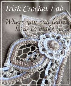 Freeform crochet motifs: Irish Crochet. Where to learn. (irish Crochet Lab).