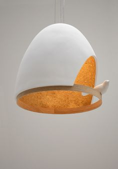 Created by Olivier Chabaud and Jean-François Bellemère for Compagnie, the « Lampe Oiseau Design Blog, Deco Design, Cool Lighting, Lighting Design, Lighting Ideas, Lamp Light, Light Up, Ceramic Light, Luminaire Design
